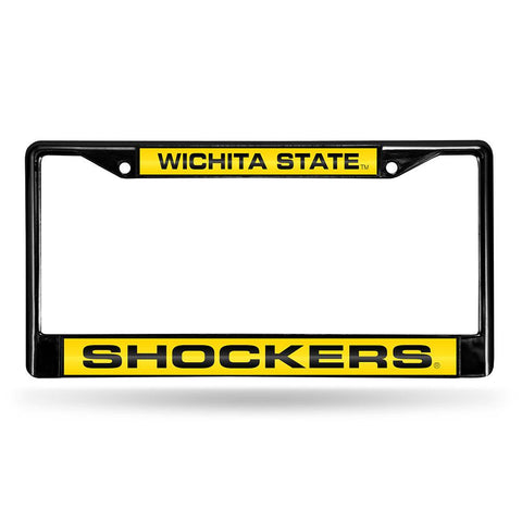 Wichita State Shockers NCAA Laser Cut Black License Plate Frame