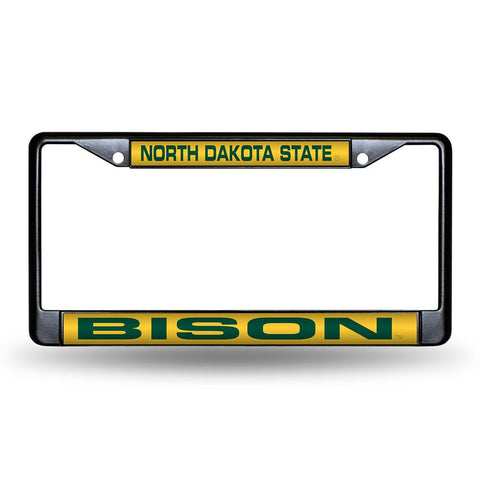 North Dakota State Bison NCAA Laser Cut Black License Plate Frame
