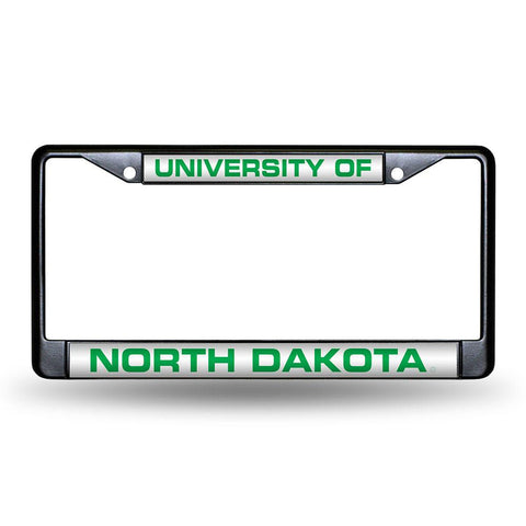 North Dakota Fighting Sioux NCAA Laser Cut Black License Plate Frame