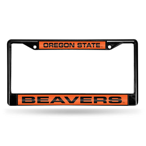 Oregon State Beavers NCAA Black Chrome Laser Cut License Plate Frame