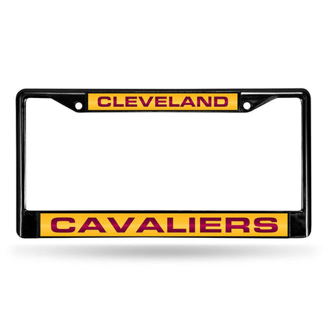 Cleveland Cavaliers NBA Black Chrome Laser Cut License Plate Frame