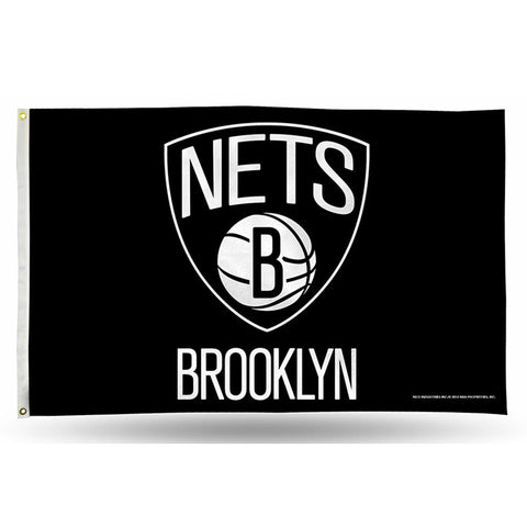 Brooklyn Nets NBA 3in x 5in Banner Flag