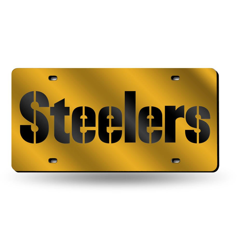 Pittsburgh Steelers NFL Laser Cut License Plate Tag - 2