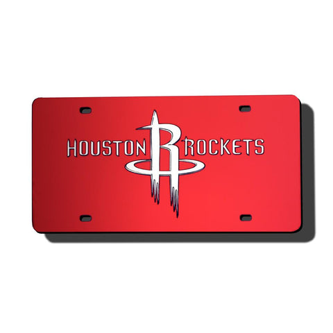 Houston Rockets NBA Laser Cut License Plate Cover