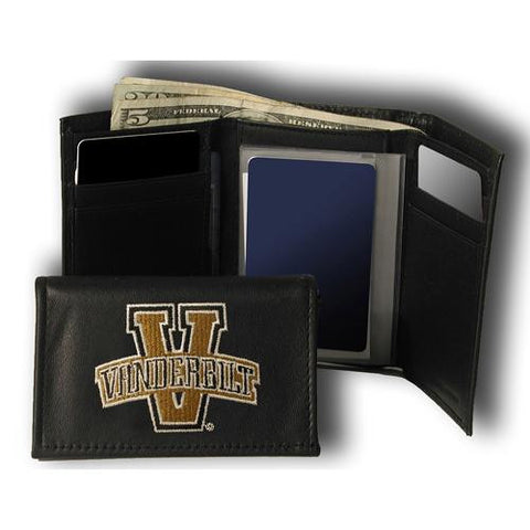 Vanderbilt Commodores NCAA Embroidered Trifold Wallet