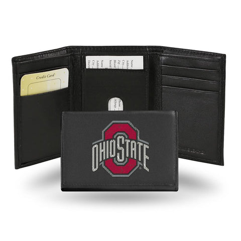 Ohio State Buckeyes  Embroidered Trifold Wallet