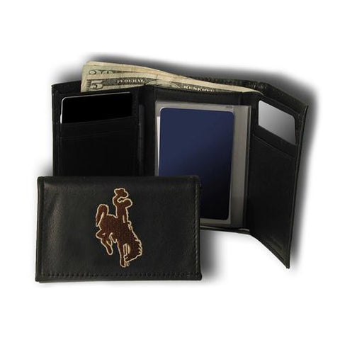 Wyoming Cowboys NCAA Embroidered Trifold Wallet