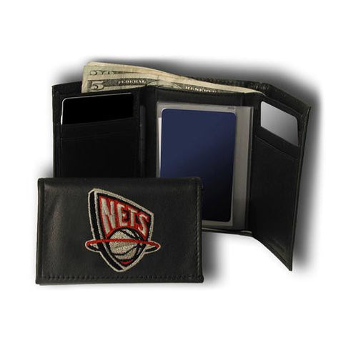 Brooklyn Nets NBA Embroidered Trifold Wallet