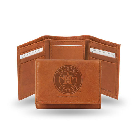 Houston Astros  Tri-Fold Wallet (Pecan Cowhide)