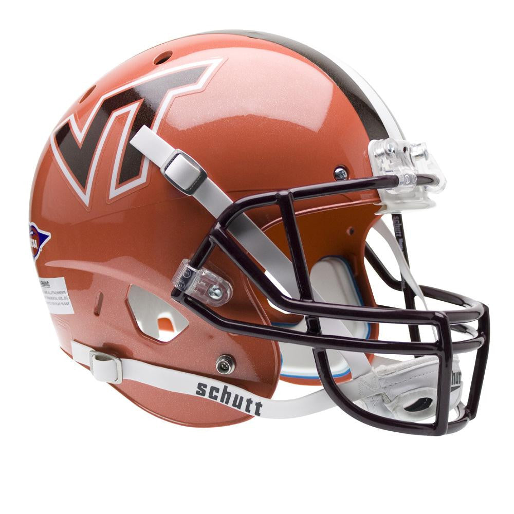 Virginia Tech Hokies NCAA Replica Air XP Full Size Helmet (Alternate Orange w- Stripe 4) - 2
