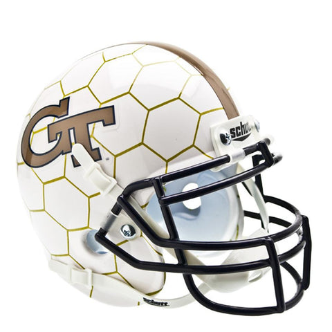 Georgia Tech Yellowjackets NCAA Authentic Mini 1-4 Size Helmet (Alternate Honeycomb 1)