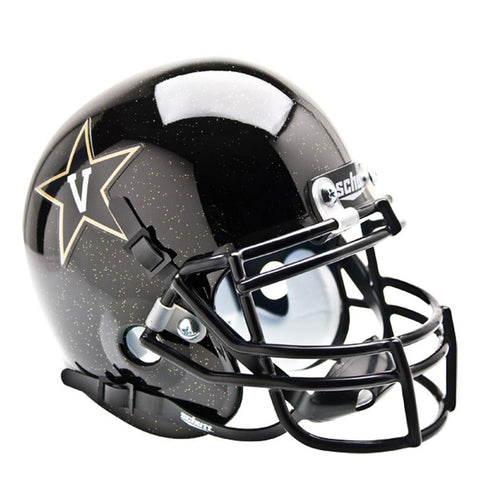 Vanderbilt Commodores NCAA Authentic Mini 1-4 Size Helmet (Alternate Black 2)