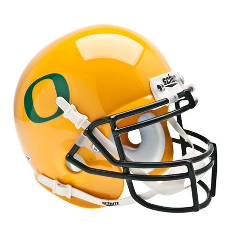Oregon Ducks NCAA Authentic Mini 1-4 Size Helmet (Alternate Gold w-GD Decal 2)