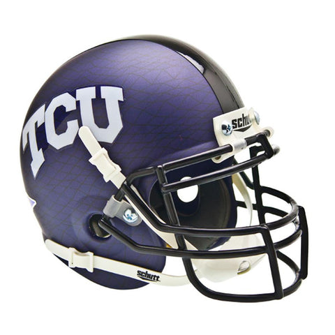 Texas Christian Horned Frogs NCAA Authentic Mini 1-4 Size Helmet (Alternate Matte w-At Crosshatch 2)