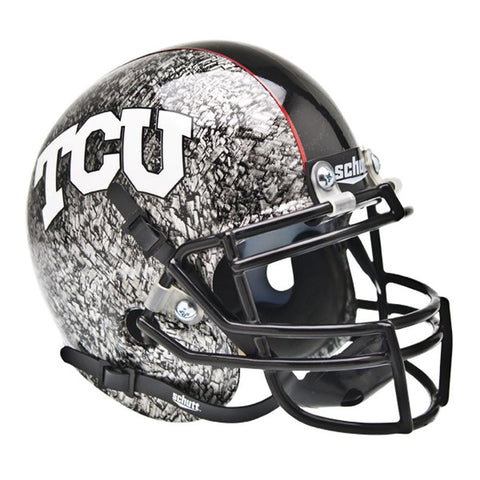 Texas Christian Horned Frogs NCAA Authentic Mini 1-4 Size Helmet (Alternate Silver w-At Slate 4)