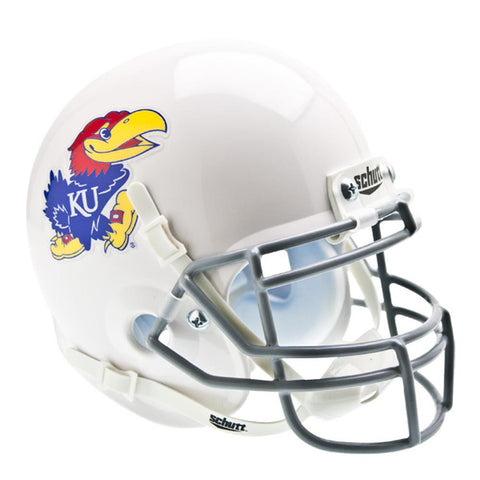 Kansas Jayhawks NCAA Authentic Mini 1-4 Size Helmet (Alternate 1)