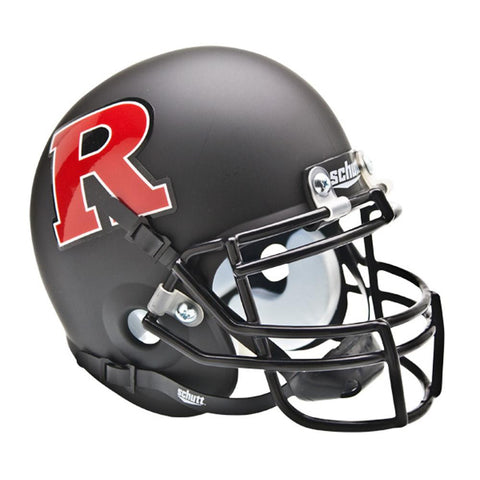 Rutgers Scarlet Knights NCAA Authentic Mini 1-4 Size Helmet (Alternate Black w- Red 2)