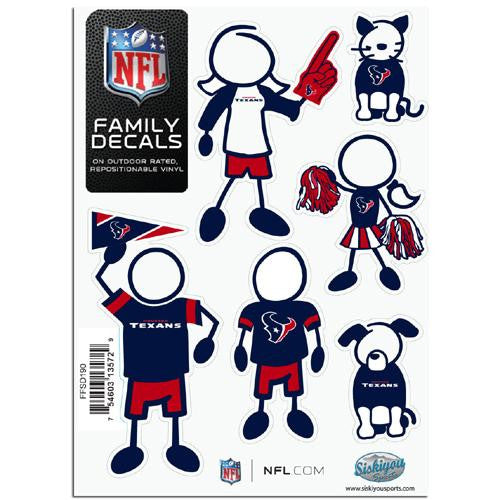 Houston Texans NFL Family Car Decal Set (Small) - 2