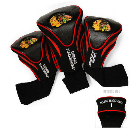 Chicago Blackhawks NHL 3 Pack Contour Fit Headcover