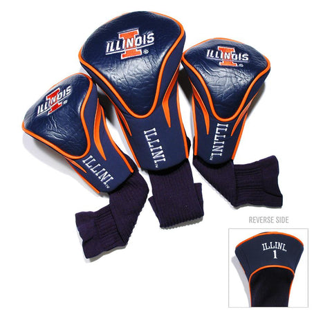 Illinois Fighting Illini NCAA 3 Pack Contour Fit Headcover