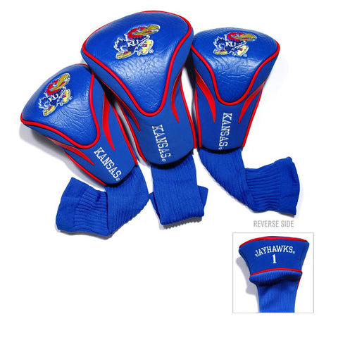 Kansas Jayhawks NCAA 3 Pack Contour Fit Headcover