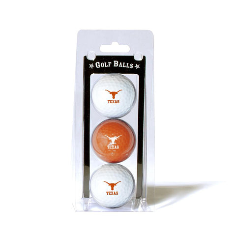Texas Longhorns NCAA 3 Ball Pack