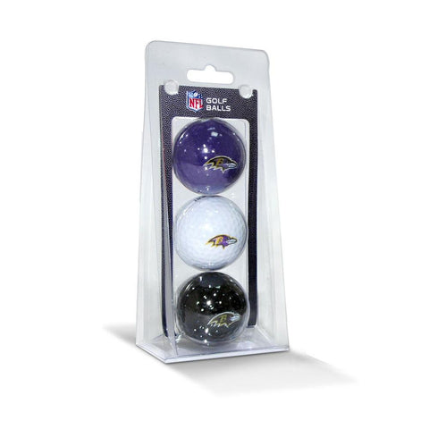 Baltimore Ravens NFL 3 Ball Pack