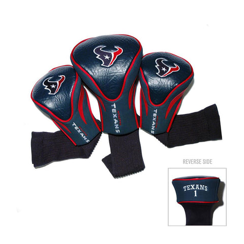 Houston Texans NFL 3 Pack Contour Fit Headcover