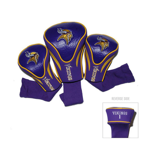 Minnesota Vikings NFL 3 Pack Contour Fit Headcover