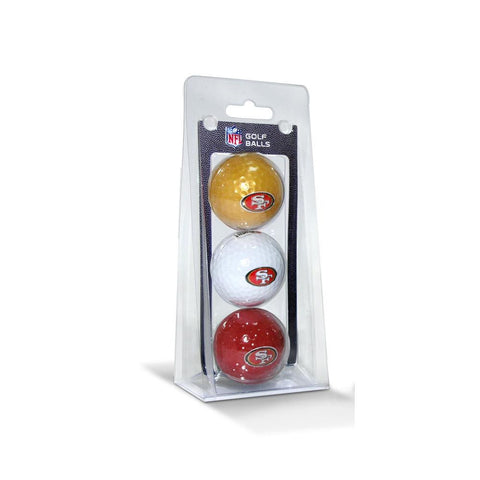 San Francisco 49ers NFL 3 Ball Pack