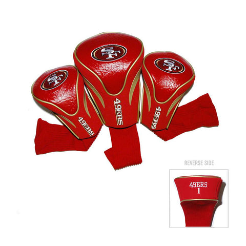 San Francisco 49ers NFL 3 Pack Contour Fit Headcover
