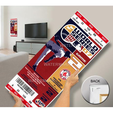 2007 World Series Mega Ticket - Boston Red Sox