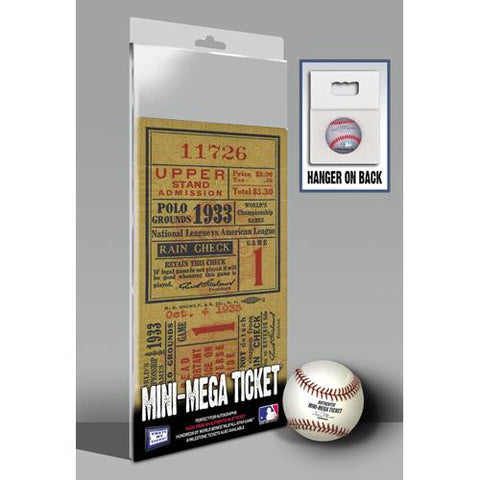 1933 World Series Mini-Mega Ticket - New York Giants