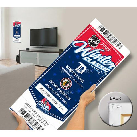 2009 NHL Winter Classic Mega Ticket - Blackhawks vs Red Wings