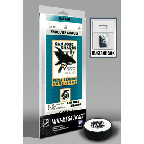 San Jose Sharks First NHL Game Mini-Mega Ticket