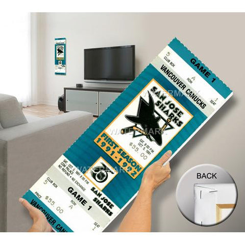 San Jose Sharks First NHL Game Mega Ticket