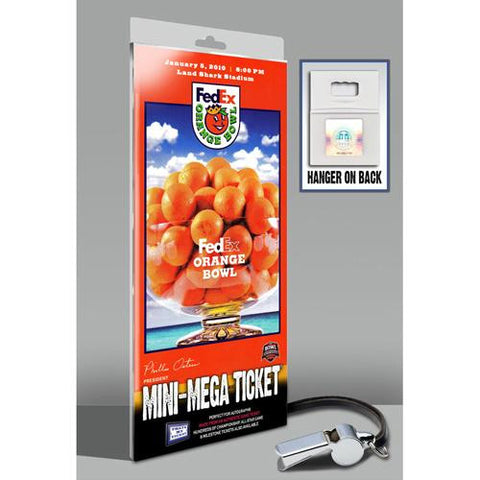 2010 Orange Bowl Mini-Mega Ticket - Georgia Tech vs Iowa