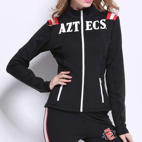 San Diego State Aztecs NCAA Womens Yoga Jacket (Black) (Small)