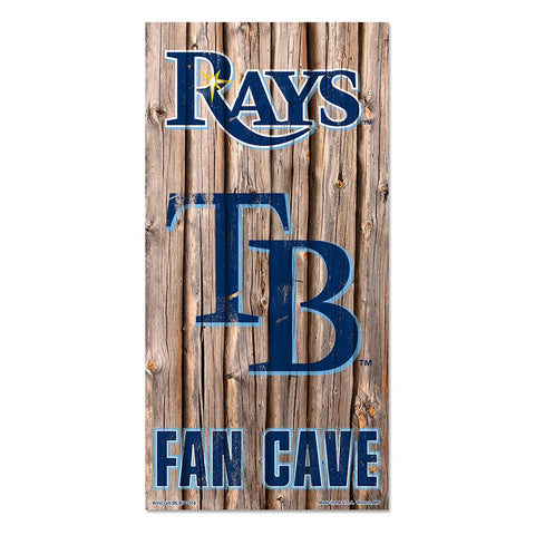 Tampa Bay Rays MLB Fan Cave Retro Wood Sign (6in x12 in)