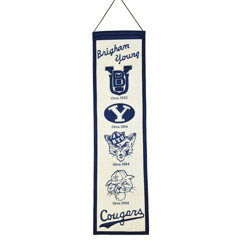 Brigham Young Cougars NCAA Heritage Banner (8x32)