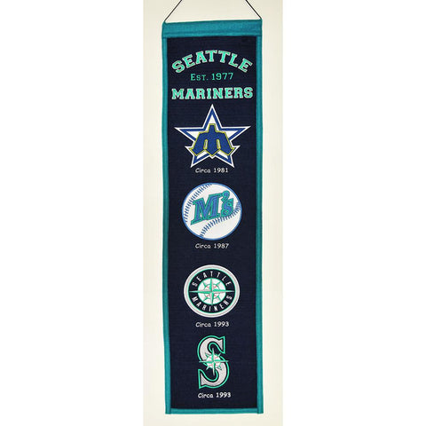 Seattle Mariners MLB Heritage Banner (8x32)