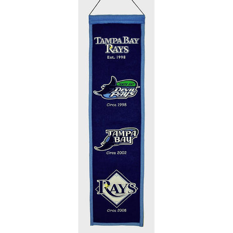 Tampa Bay Rays MLB Heritage Banner (8x32)