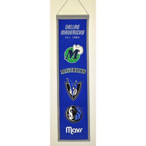 Dallas Mavericks NBA Heritage Banner (8x32)