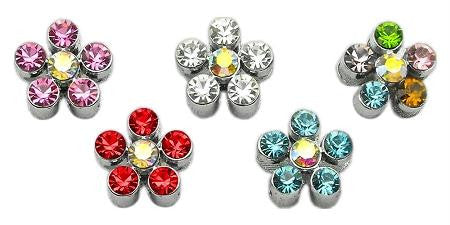 "3-8"" Slider Flower Charm Multi-Color 3-8"