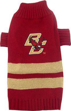 Boston College Eagles Pet Sweater LG