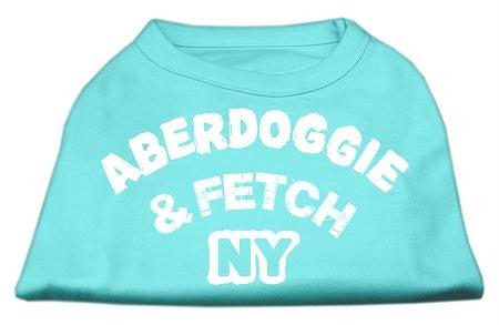 Aberdoggie NY Screenprint Shirts Aqua Lg (14)