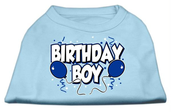 Birthday Boy Screen Print Shirts Baby Blue XS (8)