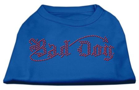 Bad Dog Rhinestone Shirts Blue Lg (14)