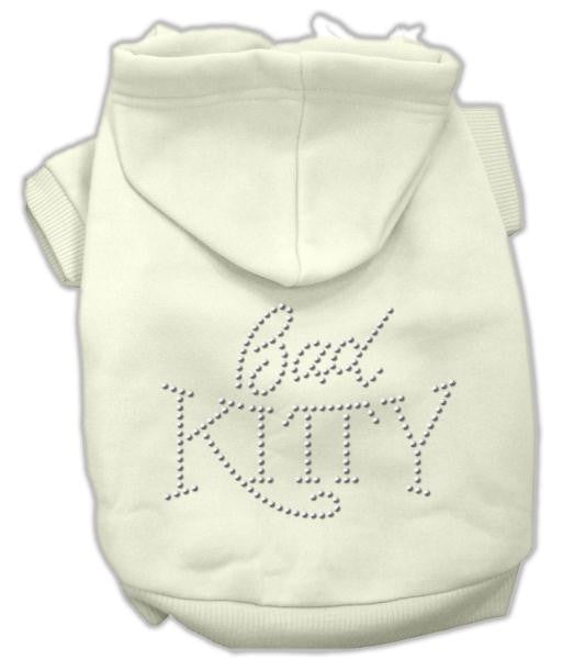 Bad Kitty Rhinestud Hoodie Cream XS (8)