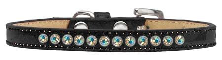 AB Crystal Size 10 Black Puppy Ice Cream Collar